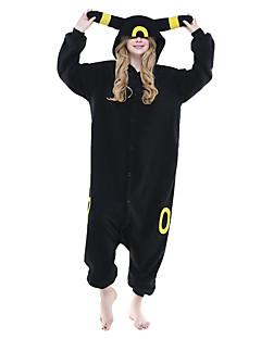 Kigurumi Pyjamas Anime Trikoot/Kokopuku Halloween Animal Sleepwear Musta Eläinkuviointi / Patchwork Polar Fleece Kigurumi UnisexHalloween