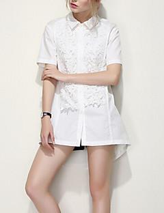 ARNE® Dames Overhemdkraag Korte mouw Shirt & Blouse Ivoor-B021