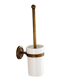 Toilet Brush Holder Antique Brass Wall Mounted Bathroom Accessories