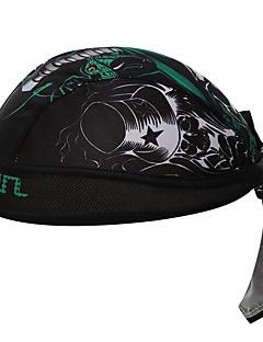 Банданы Велоспорт Дышащий Антибактериальный Впитывает пот и влагу Защита от солнечных лучей унисекс Чёрный Терилен