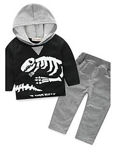 Boy's Casual/Daily Animal Print Clothing SetCotton Spring / Fall Gray