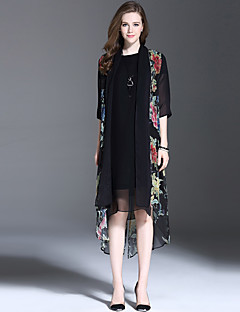 ES.DANNUO Women's Occasion Style Season Outerwear Type,Pattern Neckline Sleeve Length Color Fabric Thickness