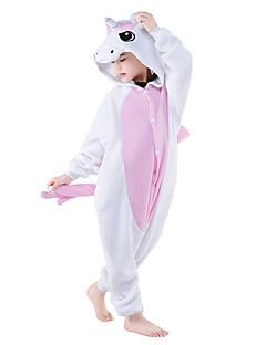 Kigurumi Pajamas Unicorn Leotard/Onesie Festival/Holiday Animal Sleepwear Halloween Pink Blue Patchwork Coral fleeceCosplay Costumes