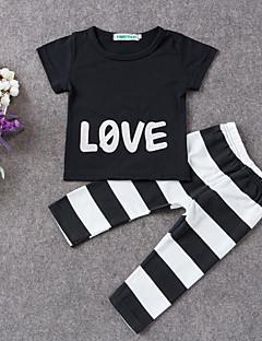Ensemble de Vêtements bébé Imprimé Décontracté / Quotidien-Coton-Eté-Noir