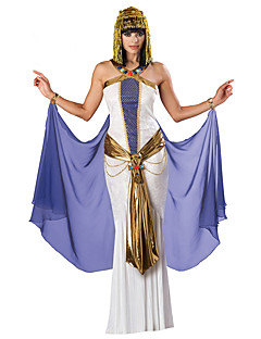 Egyptian Queen Costumes /  Halloween / Christmas / Carnival Golden / White / Blue Vintage Dress