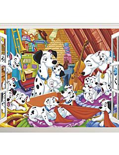 Animaux / Noël / 3D Stickers muraux Stickers avion / Stickers muraux 3D Stickers muraux décoratifs,PVC MatérielLavable / Amovible /