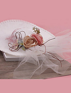 Mulheres Tule / Tecido Capacete-Casamento / Ocasião Especial Fascinador 1 Peça