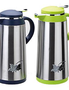 Edelstahl Kaffeekanne Druckglaseinsatz Thermos 1.3l