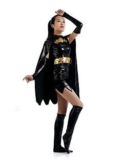 Multi-Color Zentai Suits Super Heroes Shiny Metallic Patchwork Black Unisex Leotard/Onesie / Zentai