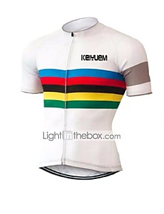 KEIYUEM® Cycling Jersey Unisex Short Sleeve BikeBreathable / Quick Dry / Ultraviolet Resistant / Front Zipper / Antistatic / Comfortable