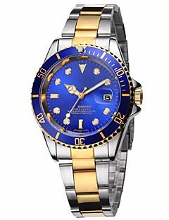 Men's Unisex Fashion Watch Wrist watch Calendar Noctilucent Quartz Stainless Steel Band Casual Luxury Silver