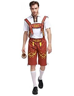 Cosplay Kostüme Oktoberfest/Bier Film Cosplay Braun einfarbig Top / Hosen Halloween / Karneval / Oktoberfest Mann Polyester