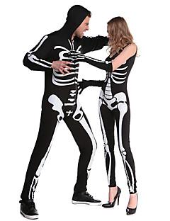 Costumes Skeleton Costume / Zombie Halloween / Christmas / Carnival White / Black Vintage Leotard/Onesie / Zentai