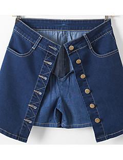 Pantaloni Da donna Pantaloncini / Jeans Semplice Cotone Media elasticità