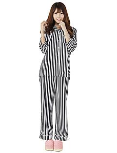 Striped silk shirt, pajamas, Casual Shirts,