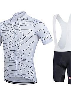 fastcute Cycling Jersey with Bib Shorts Women's Men's Kid's Unisex Short Sleeve BikeBreathable Quick Dry Moisture Permeability