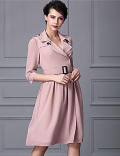 Baoyan® Damen V-Ausschnitt 1/2 Ärmel Über dem Knie Kleid-160328