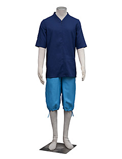 Inspireret af Spirited Away Haku Anime Cosplay Kostumer Cosplay Suits Ensfarvet Hvid / Blå Kort Ærme Top / Yukata / Shorts