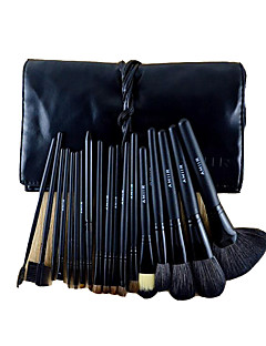 18 Conjuntos de pincel Escova de Cabelo de Cabra Portátil Madeira Rosto ShangYang