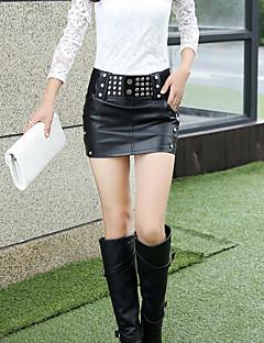 Kvinders Sexet Mini Nederdele Mikroelastisk PU
