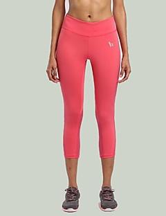 calças de yoga Calças Respirável / Elástico Natural Stretchy Wear Sports Rosa / Preto / Azul Unissexo Esportivo Ioga
