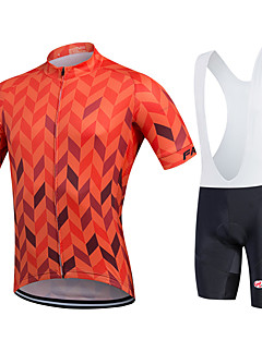 Fastcute® Cycling Jersey with Bib Shorts Men's Short Sleeve BikeBreathable / Quick Dry / Moisture Permeability / YKK Zipper /