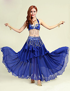 Belly Dance Outfits Women's Performance Polyester Sequins 2 Pieces Belly Dance Sleeveless