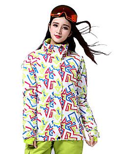 Skiklær Ski/Snowboardjakker Dame Vinterplagg Bomull / Polyester Arkitektur Vinterklær Hold Varm / VindtettSki / Skøyting / Snøsport /