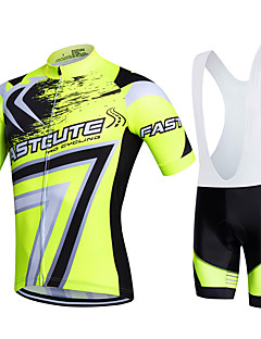fastcute Cycling Jersey with Bib Shorts Women's Men's Kid's Unisex Short Sleeve BikeBreathable Quick Dry Moisture Permeability 3D Pad
