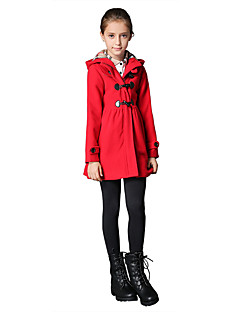 Girl's Casual/Daily Solid Blouse / Down / Blazer / Coat,Wool / Polyester / Spandex Winter / Spring / Fall