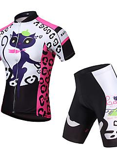 KEIYUEM® Camisa com Shorts para Ciclismo Unissexo Manga Curta MotoImpermeável / Respirável / Secagem Rápida / Design Anatômico / Á
