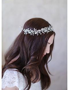 Mulheres Pérola / Cestaria Capacete-Casamento / Ocasião Especial / CasualBandanas / Flores / Corrente para Cabeça / Acessórios para