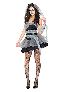 Costumes Ghost / Zombie / Vampires Halloween / Christmas / Carnival Black / Gray Vintage Dress / Tail / Headwear