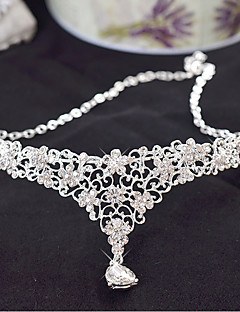 Bride's Flower Forehead Frontlet Wedding Hair Accessories Crown Headbands 1 PC