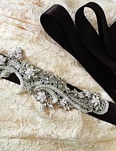 Raso Matrimonio / Party/serata / Da giorno Fusciacca-Con lustrini / Con perline / Con applique / Con cristalli / Diamantini Da donna 250cm