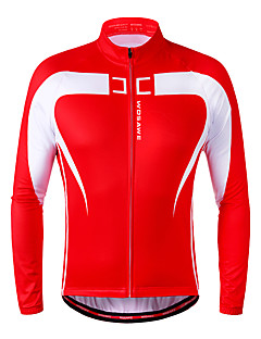 Wosawe® Cycling Jacket Unisex Long SleeveBreathable / Thermal / Warm / Fleece Lining / Front Zipper / Reflective Strips / Limits Bacteria