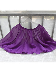 Danse classique Bas Enfant Entraînement Mousseline Plissé 1 Pièce Sans manche Taille moyenne Jupe