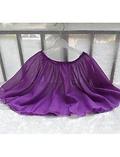 Ballet Bottoms Children's Training Chiffon Pleated 1 Piece Ballet Sleeveless Natural Skirt