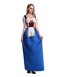 Costumes More Costumes Halloween / Oktoberfest Blue Patchwork Terylene Dress / More Accessories