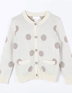Mädchen Pullover & Cardigan-Lässig/Alltäglich Punkte Baumwolle Herbst Weiß