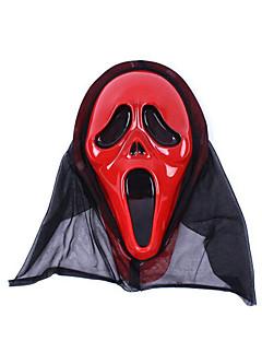 Artigos de Halloween / Baile de Máscara Fantasma Festival/Celebração Trajes da Noite das Bruxas Vermelho Estampado Máscara Dia Das Bruxas