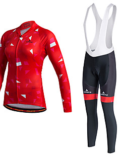Miloto® Cycling Jersey with Bib Tights Women's / Unisex Long Sleeve BikeBreathable / Quick Dry / Moisture Permeability / 3D Pad /