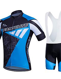 Fastcute® חולצת ג'רסי ומכנס קצר ביב לרכיבה לנשים / לגברים / לילדים / יוניסקס שרוול קצר אופנייםנושם / ייבוש מהיר / חדירות ללחות / 3D לוח /
