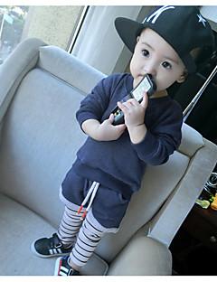 Boy's Casual/Daily Striped Hoodie & SweatshirtCotton Spring / Fall Blue / Gray
