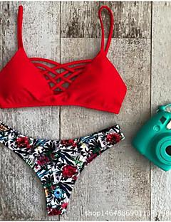 Damen Bikinis - Floral Polyester Halfter