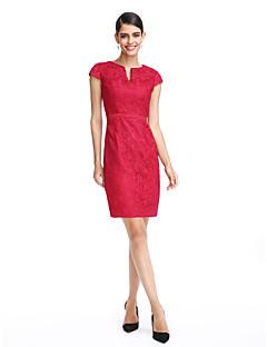 2017 TS couture® выпускного вечера коктейль платье партии оболочки / колонки с надрезом длиной до колена шнурок с створка / лентой