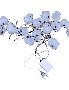 o dia das bruxas fulgor crânios brancos de lâmpadas