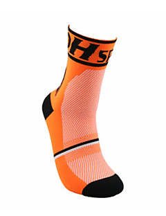 Sports Bike/Cycling Socks Unisex Sleeveless Breathable / Sweat-wicking Cotton Floral / Botanical Orange