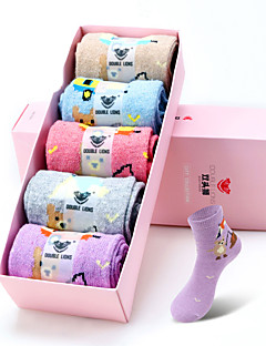 DOUBLE LIONS® Damen Wolle Socken 5 / box-WM7037
