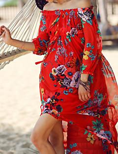 od té doby dámské sexy / Boho květinový houpačka šaty, člun krk maxi polyester